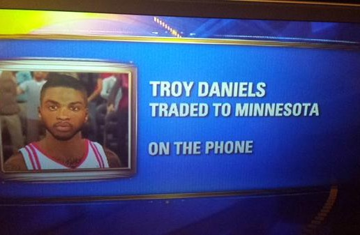 Damn Homie: KRIV Uses Troy Daniels NBA2K Photo To Discuss His Trade To The Minnesota Timberwolves Live On Television