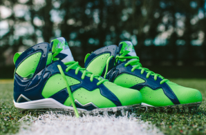 "Seattle Seahawks Safety Earl Thomas Unveils His Super Bowl 49 ""Air Jordan 7″ Cleats (Photos)"