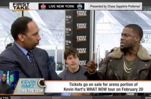 Fabolous, Nelly, & 3 Time NBA All Star Celebrity Game MVP Kevin Hart Visit ESPN First Take (Video)