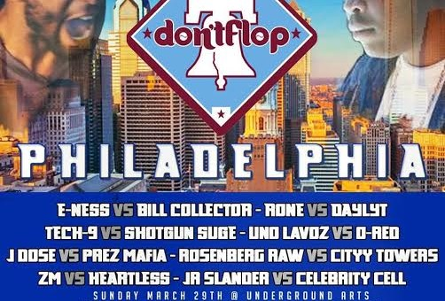 Don't Flop Battle Rap Event Comes To Philly On March 29