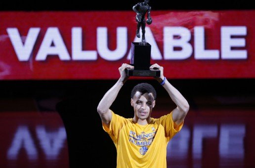 Warriors, Come Out & Play: Stephen Curry Accepts His 2014-15 MVP Trophy (Video)
