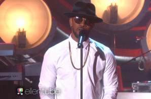 "Jamie Foxx Performs ""Baby's In Love"" Live On Ellen (Video)"