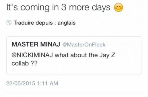 Nicki Minaj Leaks News On Upcoming Jay-Z Collab In Recent Tweet