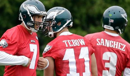 Sam Bradford, Tim Tebow & Mark Sanchez Ready To Fly High For The Eagles This Season (Photo)