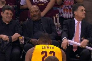 Lebron James Pays Homage To NFL Legend Jim Brown Pregame (Video)