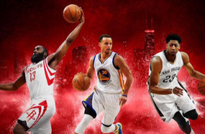 "Steph Curry, James Harden & Anthony Davis Will Cover ""NBA 2K16″ (Photos)"