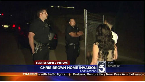 Not Again: Chris Brown's Home Invaded By 3 Armed Men, Aunt Forced Into Closet (Video)
