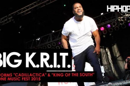 """Big K.R.I.T. Performs """"Cadillactica"""" & """"King of the South"""" At One Music Fest (Video) (Shot by Brian Da Director)"""