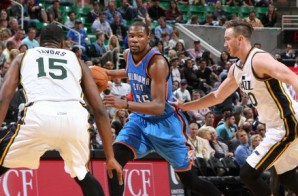 Game On: Durant & Westbrook Shine Against The Utah Jazz; Westbrook Drops A Triple-Double (Video)