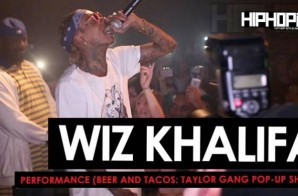 """Wiz Khalifa Performs During The Beer And Tacos """"Taylor Gang Pop-Up Show"""" in Atlanta (HHS1987 Exclusive) (Video)"""