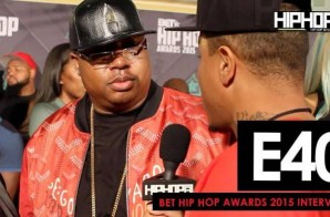 E40 Talks His Upcoming Project 'Poverty and Prosperity', Predicts a Golden State Warriors Repeat & More On The 2015 BET Hip-Hop Awards Green Carpet (Video)