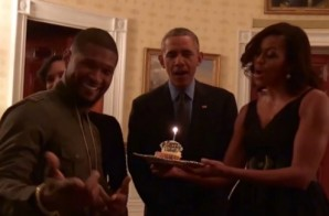Barack & Michelle Obama Sing Happy Birthday to Usher! (Video)