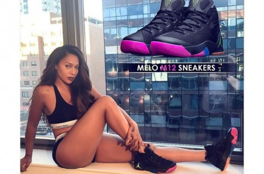 """Stand By Your Man: Lala Anthony Flaunts Her Husband Carmelo Anthony's Air Jordan """"Melo M12"""" (Photos)"""