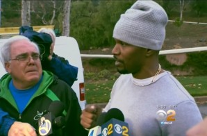Act Of Valor: Jamie Foxx Pulls Drunk Driver From Burning Truck! (Video)