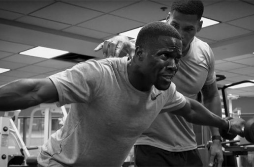 Kevin Hart Connects With Nike For 'Inner Strength' Training + Debut's New Signature Nike's On Jimmie Kimmel! (Video)