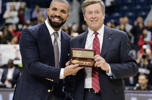 Drake Presented With Key To The City Of Toronto! (Video)