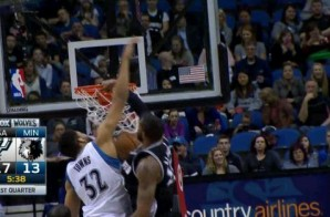 LaMarcus Aldridge Welcomes Karl-Anthony Towns To The NBA With This Nasty Dunk (Video)